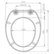 URAN - WC-ülőke duroplast, univerzális pvc pánt