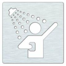 HP zuhany tábla, matt inox