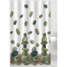 Zuhanyfüggöny 180x200 cm, kövek