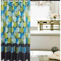 Zuhanyfüggöny 180x200 cm, színes körök