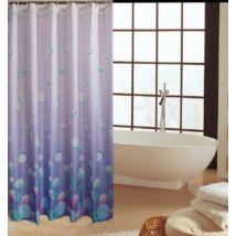 Zuhanyfüggöny 180x200 cm, világos lila