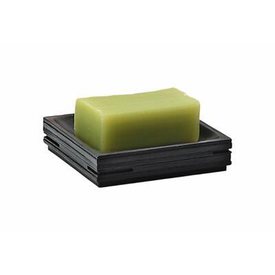 Quadrotto szappantartó fekete