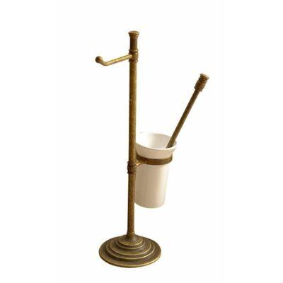 Astor álló wc papír és kefe tartó, bronz