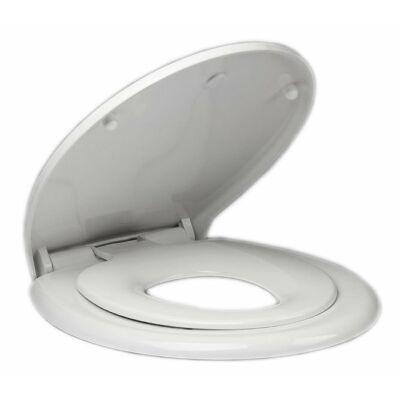 Hidraulikus wc ülőke gyerekbetéttel, Soft Close