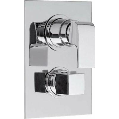 Una falbaépített termosztatikus zuhanycsaptelep