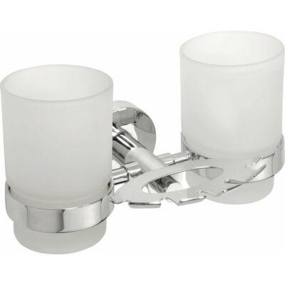 Omega fogkefetartó pohárral, tejüveg