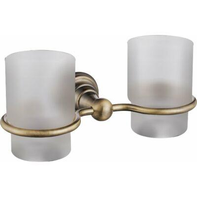 Diamond dupla pohártartó, bronz