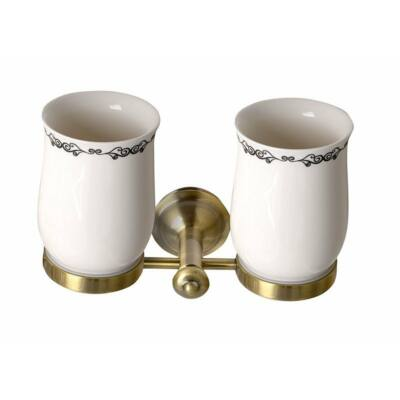 Astor dupla pohártartó, bronz