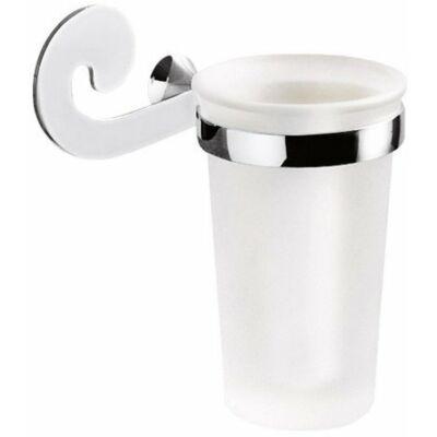 Sissi pohártartó , tejüveg, króm